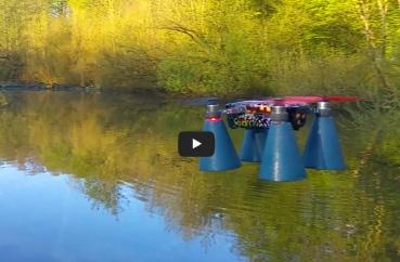 DJI Spark mod lightning bug goes swimming play button